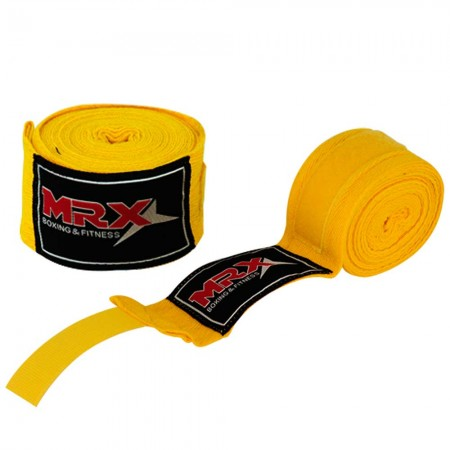 Boxing hand wraps yellow 001-YLW