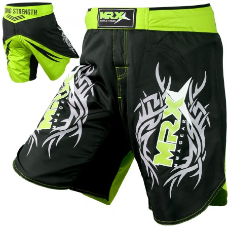 mrx mma short  green black # 1114 full view