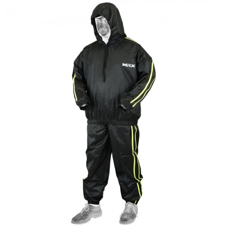 mrx sauna sweat suit black green