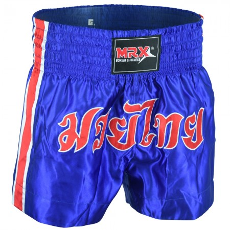 MRX Mens Boxing Shorts Fighting Shorts Blue/Red/White -1302
