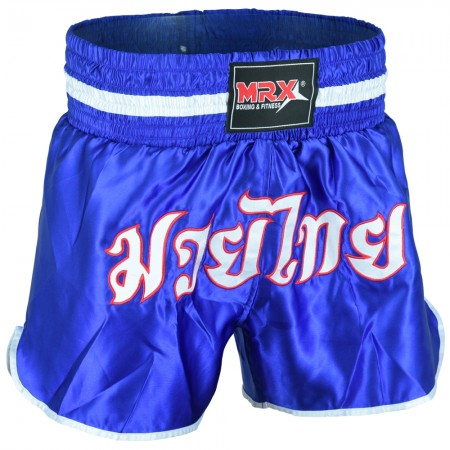 MRX Mens Boxing Shorts Fighting Shorts Blue / White -1305