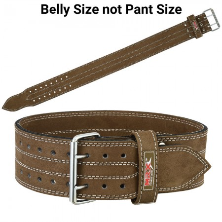 new mrx power lifting belt brown 1