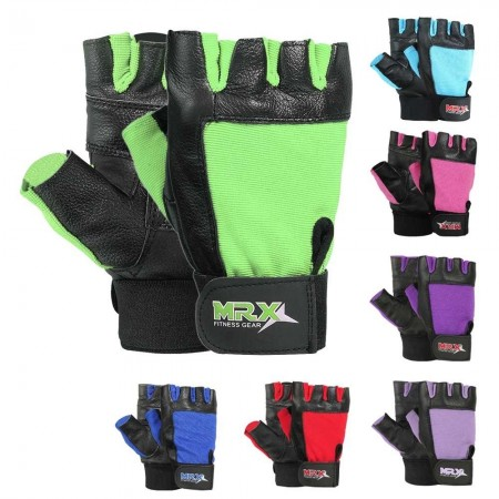 MRX Weightlifting Gloves GYM Training Workout Glove Long Wrist Straps