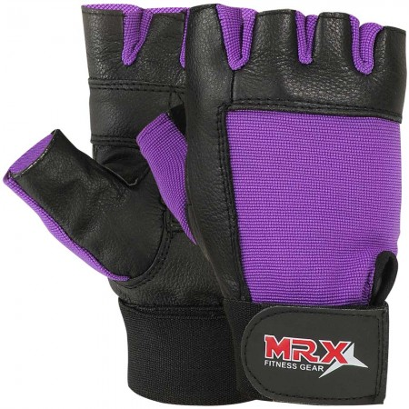 mrx women fitness gloves purple color