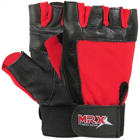 mrx weight lifting gloves black red