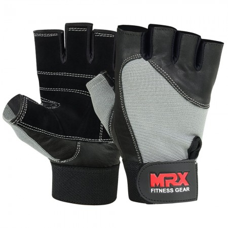 MRX Weight Lifting Gloves Gym Training Bodybuilding Fitness Glove Workout Men & Women Gray Large