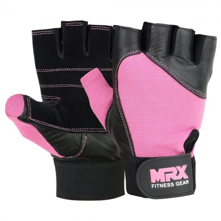 MRX Weight Lifting Gloves Gym Training Bodybuilding Fitness Glove Workout Men & Women Pink Large