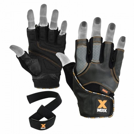MRX Men's Weight Lifting Gloves with Bar Straps 2619-BO-M