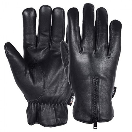 Men's Warm Winter Genuine Leather Driving Gloves