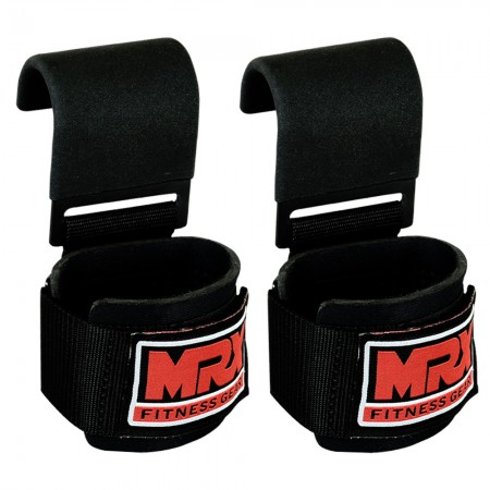 power weight lifting wrist straps with hooks 4