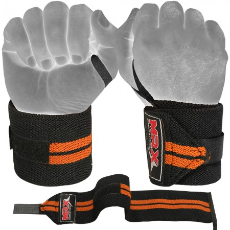 mrx weight lifting wrist wrap Orange