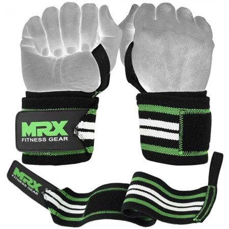 weight lifting wrist wraps green