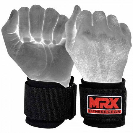 weight lifting neoprene wrist wrap black 1