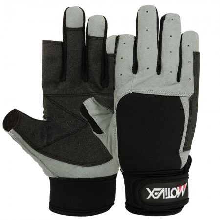 sailing gloves cut finger style back and front view