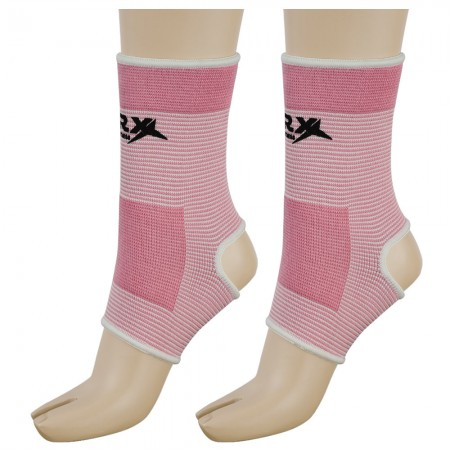 ankle brace support pink white side view