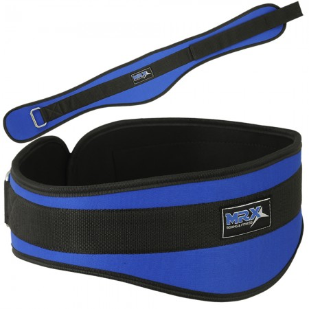 men weight lifting belt curve blue