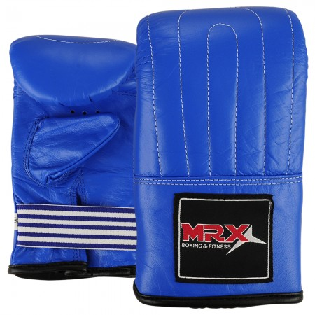 mrx leather bag mitts in blue