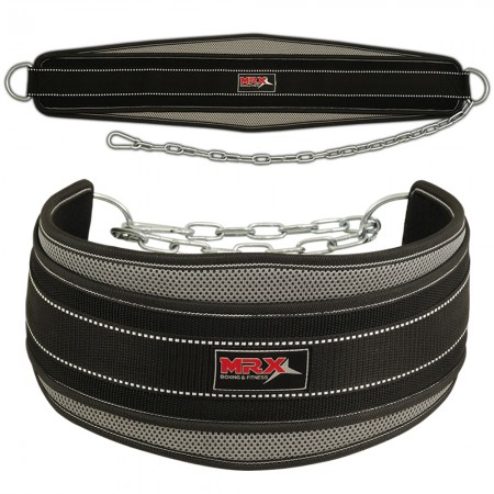 dipping belt with mesh black grey