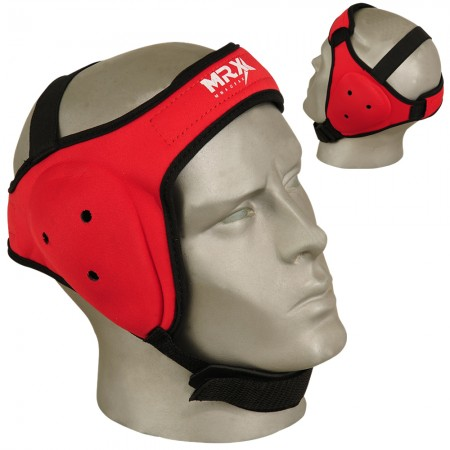 mma ear guards in red color