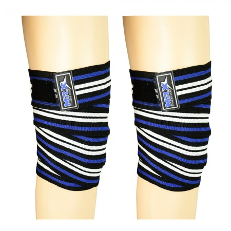 Weight Lifting knee wraps blue