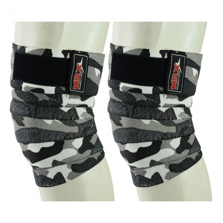 weight lifting knee wraps camo grey1