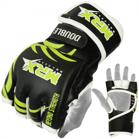 mrx mma fight ufc gloves black green