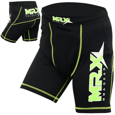 compression shorts black green