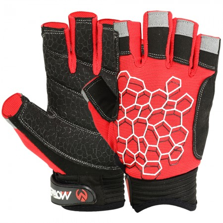 new sailing gloves black red 1