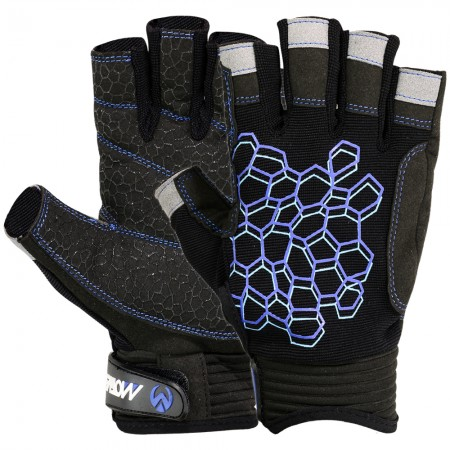 new sailing gloves black blue full photo