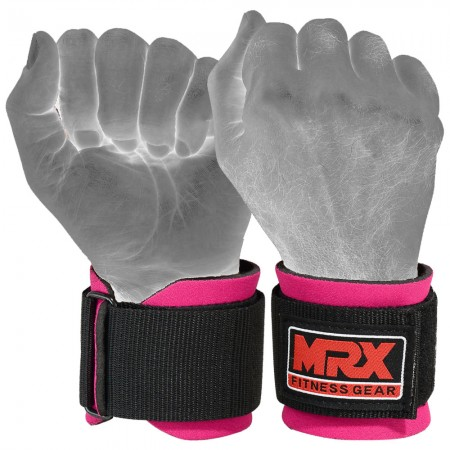 new mrx neoprene wrist wraps pink color full photo