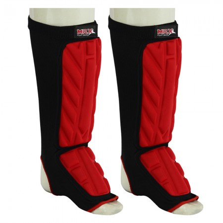 mrx shin instep protector black red full image