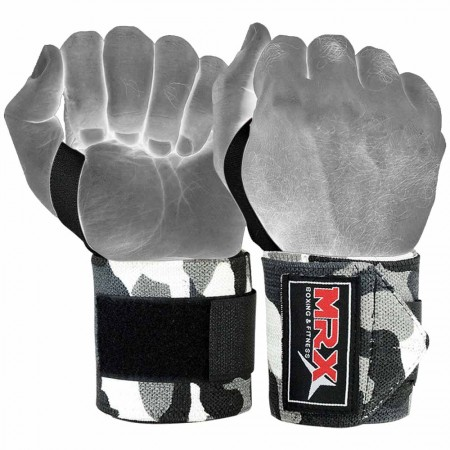 mrx weight lifting wrist wraps camo gray1