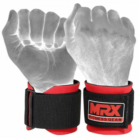 red wrist wraps for gym training full photo