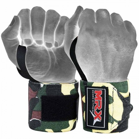 mrx weight lifting wrist wraps in camo green 1