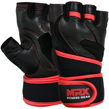 mrx weight lifting glove with long wrist strap 4