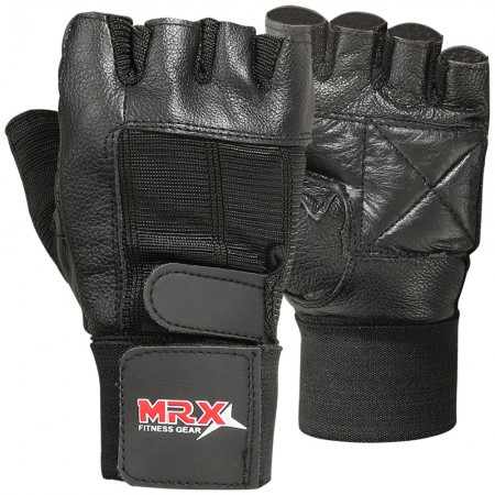 mrx men weight lifting gloves in black color