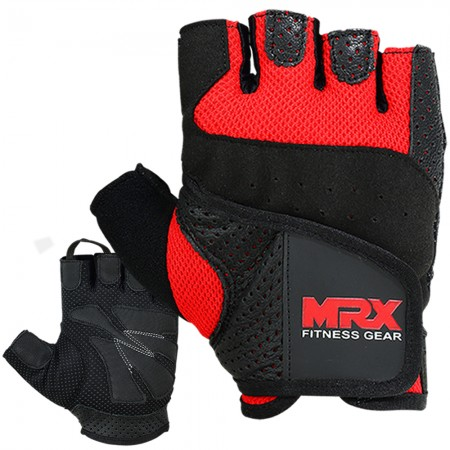 Men's weight lifting gloves 2607-RED