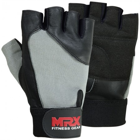 mrx men weight lifting gloves 2614-GRY1