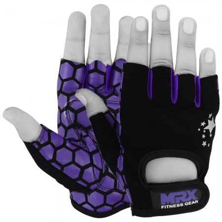 women weight lifting gloves purple 2
