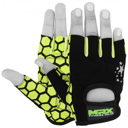 women weight lifting gloves green color full view