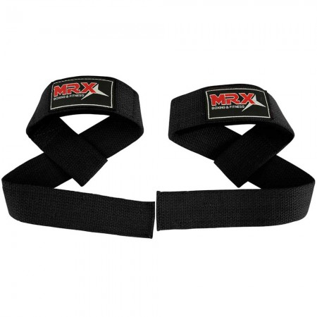 MRX power weight lifting straps black