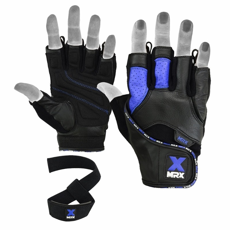 Dam Leather Weight Lifting Gym Gloves Real Leather Women S: MRX Men's Weight Lifting Gloves With Bar Strap