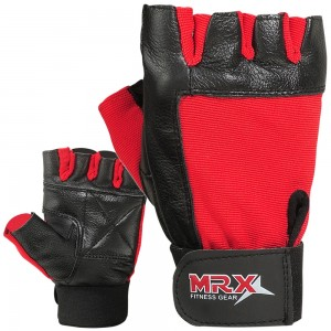 MRX Weightlifting Gloves GYM Workout Glove Unisex 2602-RED
