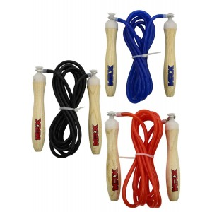 jumping rope 9' long pvc rope 582 black, red, blue