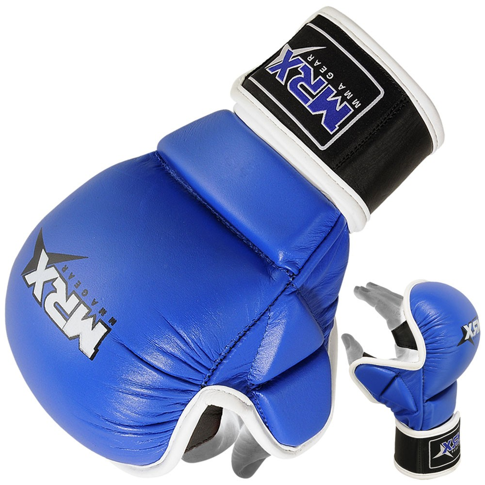 MMA SPARRING GLOVES BLACK BLUE