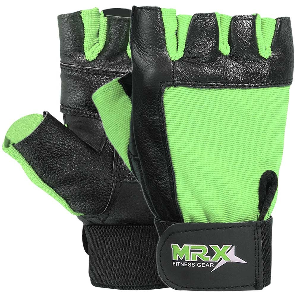 MRX WEIGHT LIFTING GLOVE GREEN FITNESS GLOVES