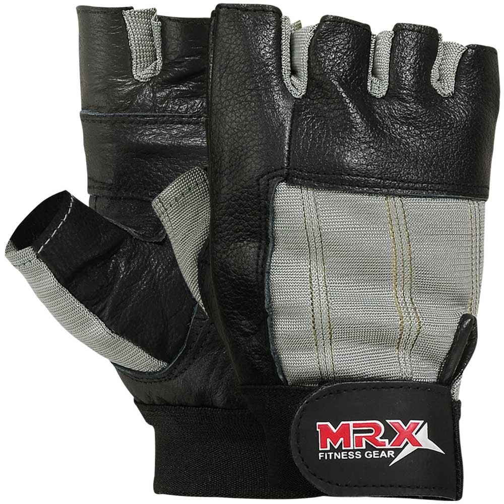 MRX MEN WEIGHT LIFTING GYM GLOVES GRAY