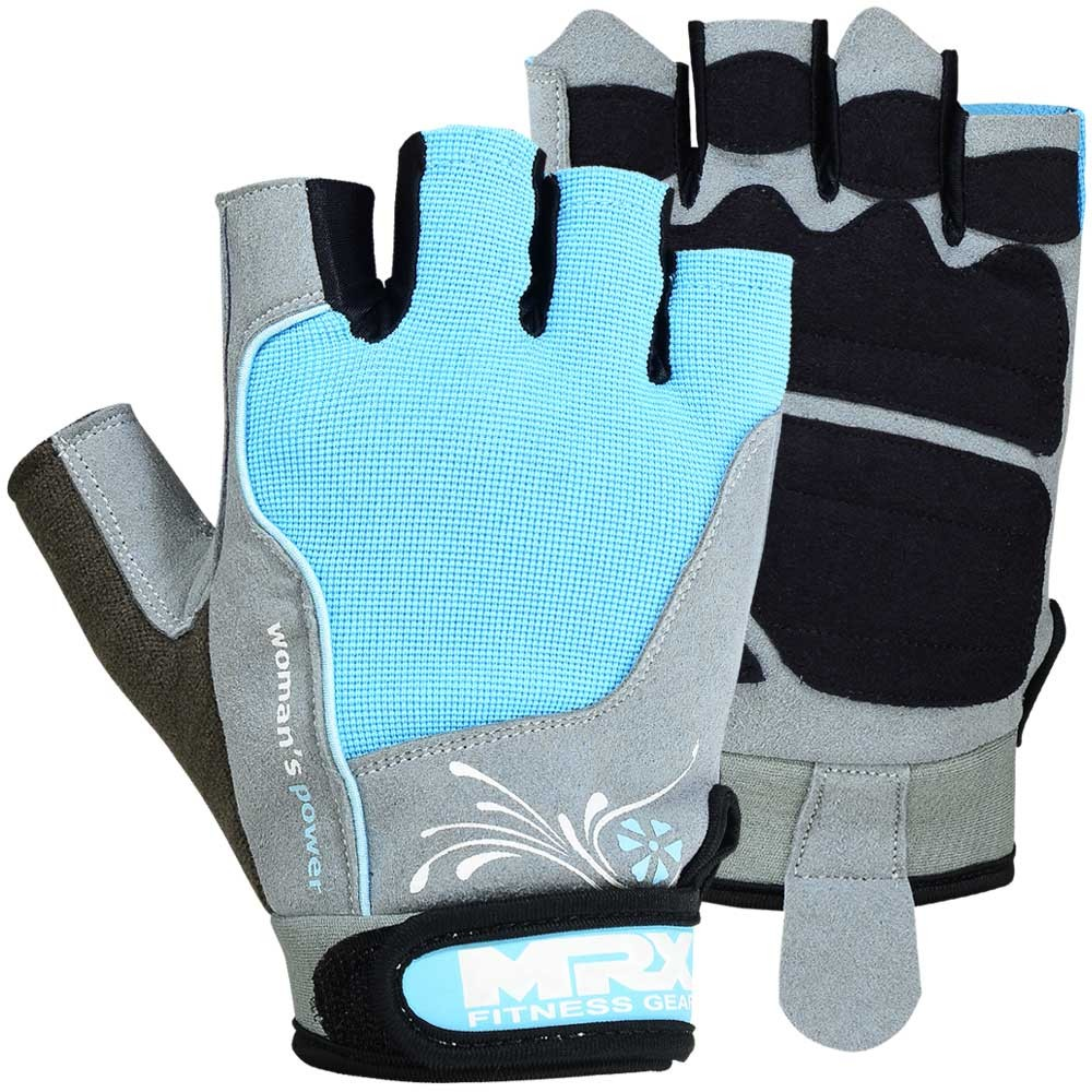 MRX WOMEN WEIGHT LIFTING GYM GLOVES SKY S