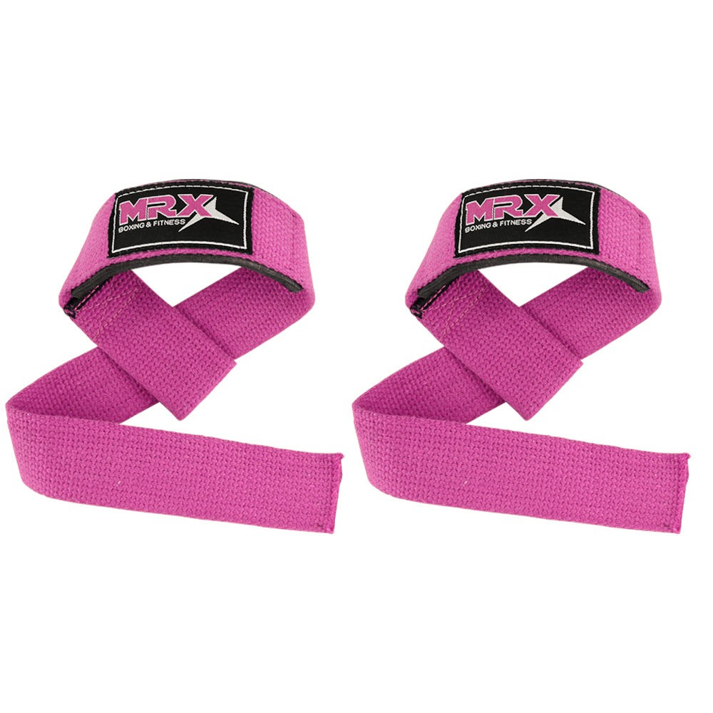 weight lifting bar straps pink color