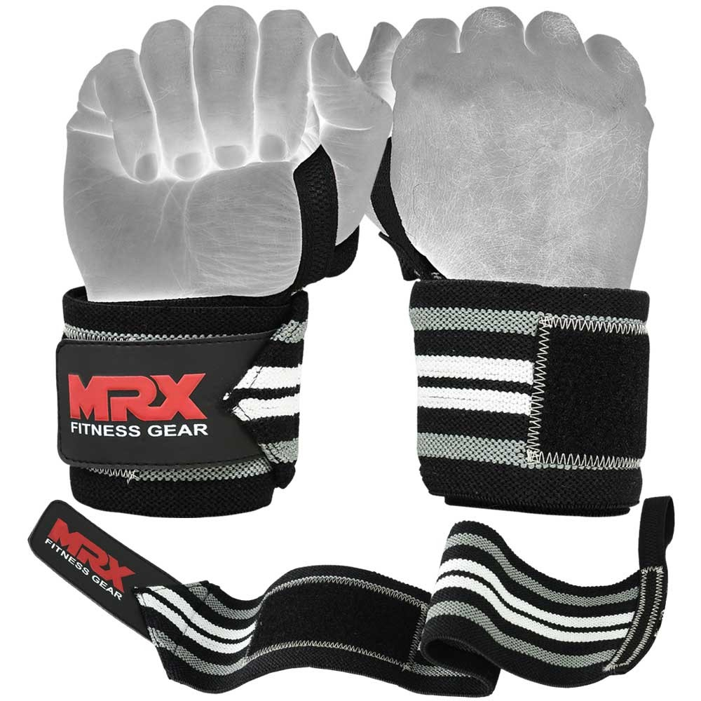 MRX WEIGHTLIFTING WRIST SUPPORT WRAPS GRAY